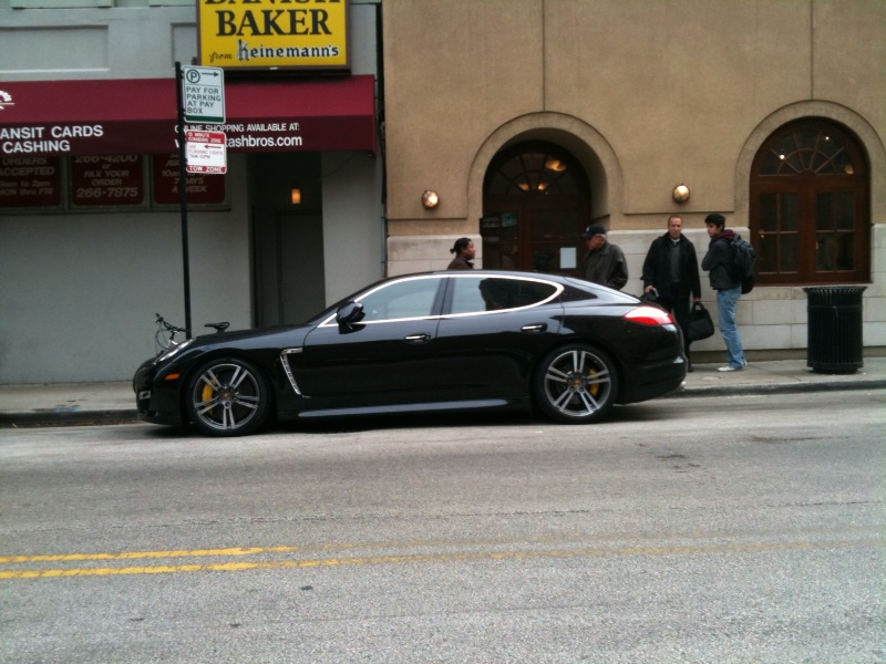 Porsche Panamera Parked on the Street
