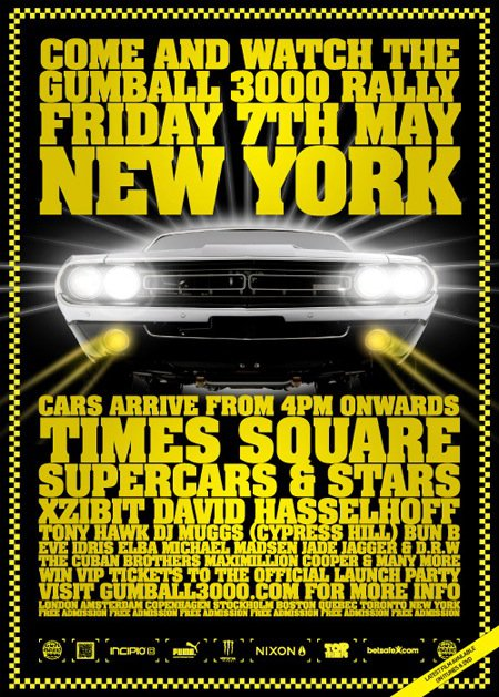 2010 Gumball 3000 - New York, Times Square