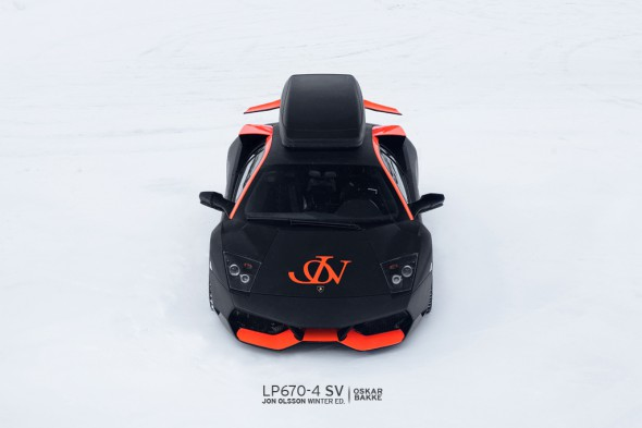 Jon Olsson's Lamborghini LP 670-4 SV (with ski rack)