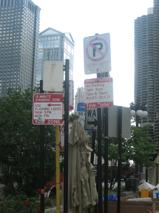 Chicago should leave these signs as-is... it's not far off from what some streets look like today...
