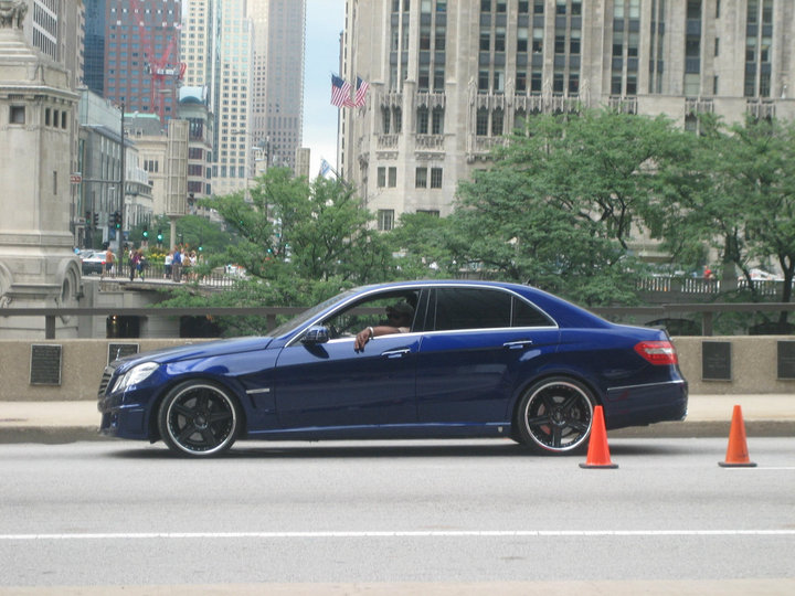 "Transformers 3 - Notice the small ""Autobot"" logo on side skirt in front of back wheel of the Mercedes E-Class"