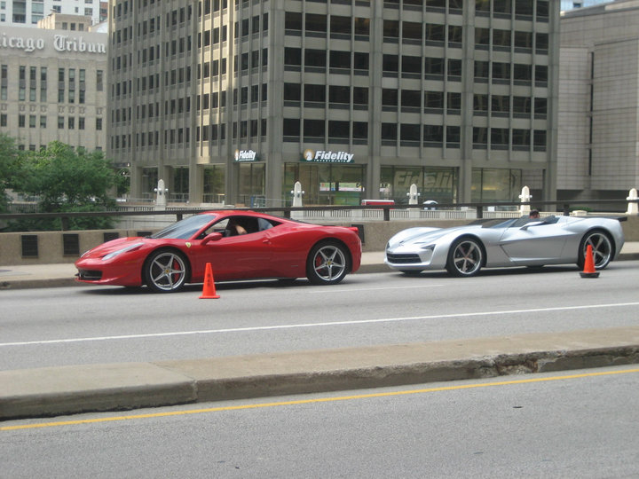 Transformers 3 - Ferrari 458 Italia, Corvette Stingray Convertible Concept