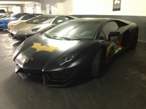 Batventador resting at the Batcave in Chicago